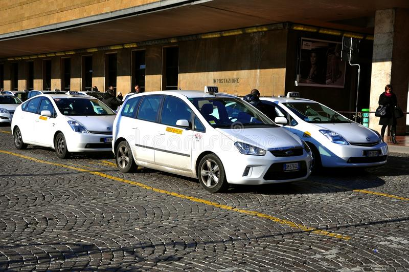 Taxi station in Italy