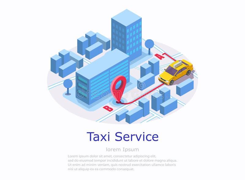 Taxi strony internetowej sztandaru usługowy wektorowy szablon royalty ilustracja