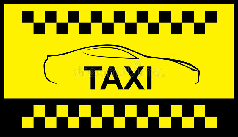 Taxi symbol, and car on the background. Car. Silhouette of the car. Vector illustration for your design vector illustration