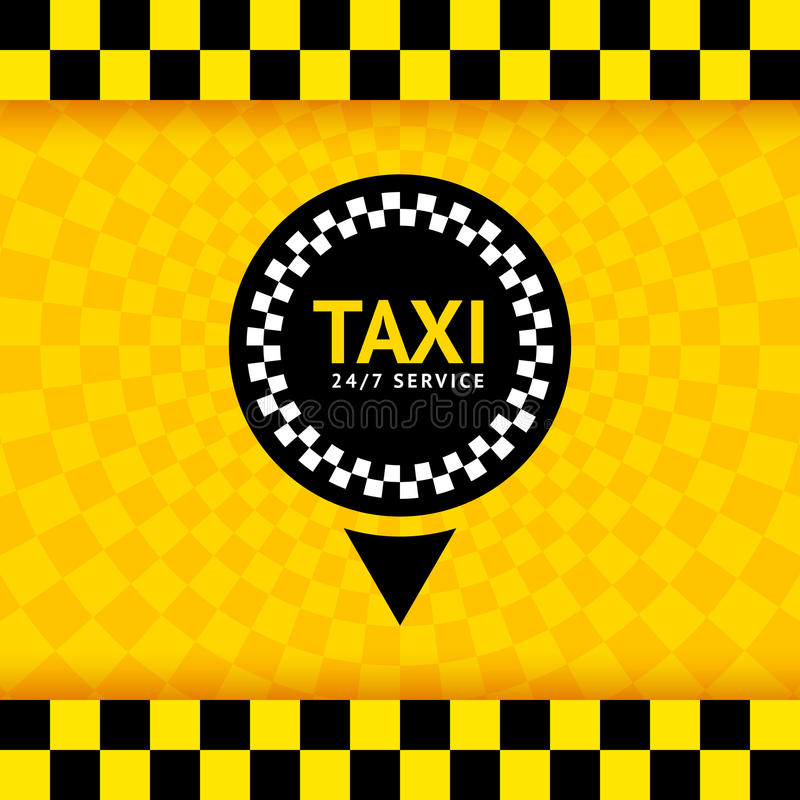 Taxi symbol, new background. Vector illustration 10eps stock illustration