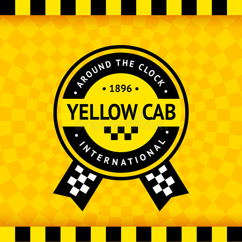 Free Taxi Symbol With Checkered Background - 14 Stock Photography - 78633822