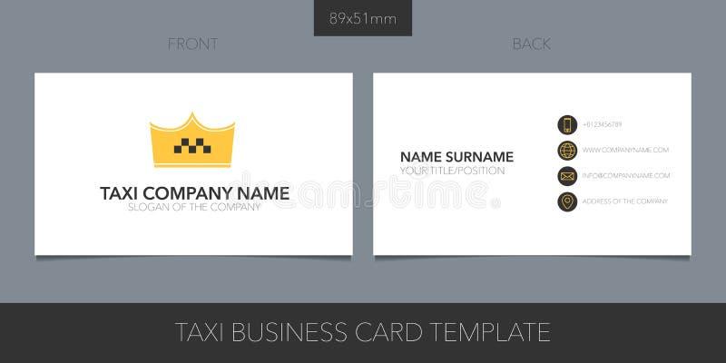 Taxi, taksówka wektorowy wizytówka z układ logo, ikony i szablonu korporacyjnymi szczegółami, ilustracja wektor