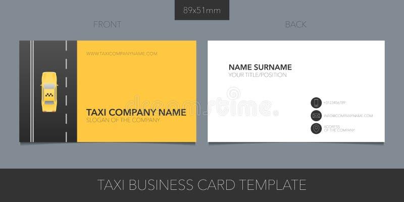 Taxi, taksówki wizytówki wektorowy szablon z korporacyjnymi logo, ikony i kontaktu szczegółami, ilustracji