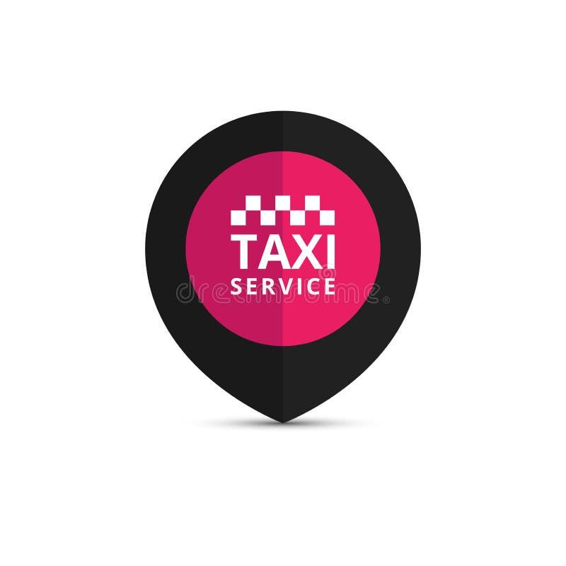 Taxi, taksówka logo, projekt Taxi punktu grafiki ikona Wektorowy illustra royalty ilustracja