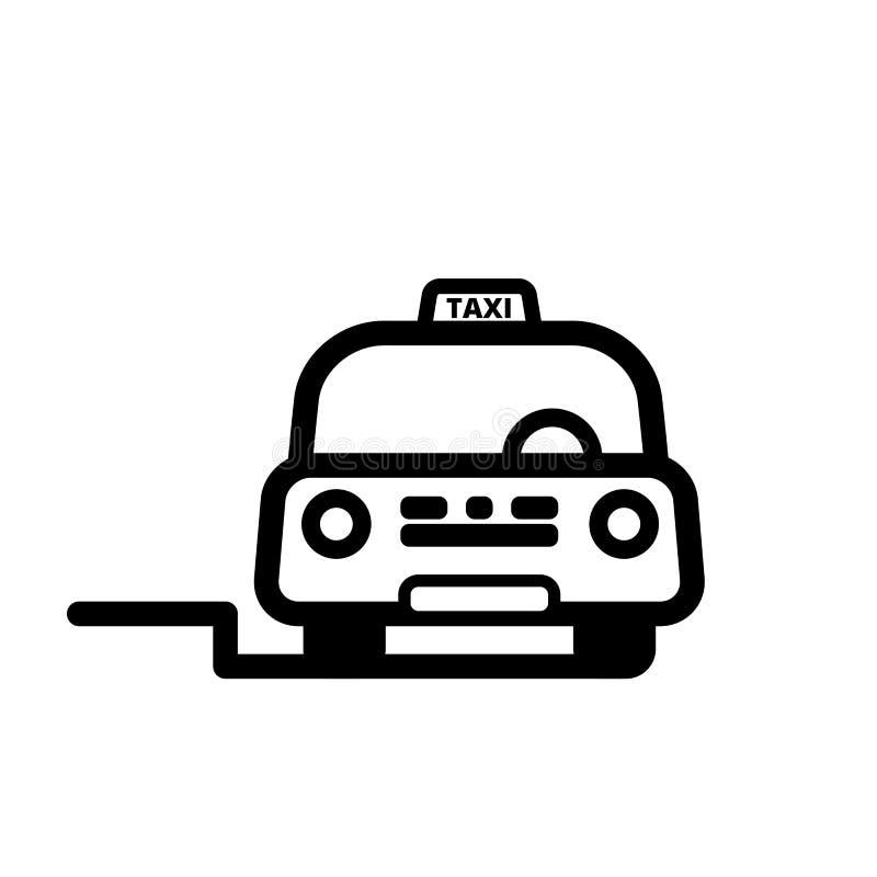 Taxi taksówka na ulicie royalty ilustracja