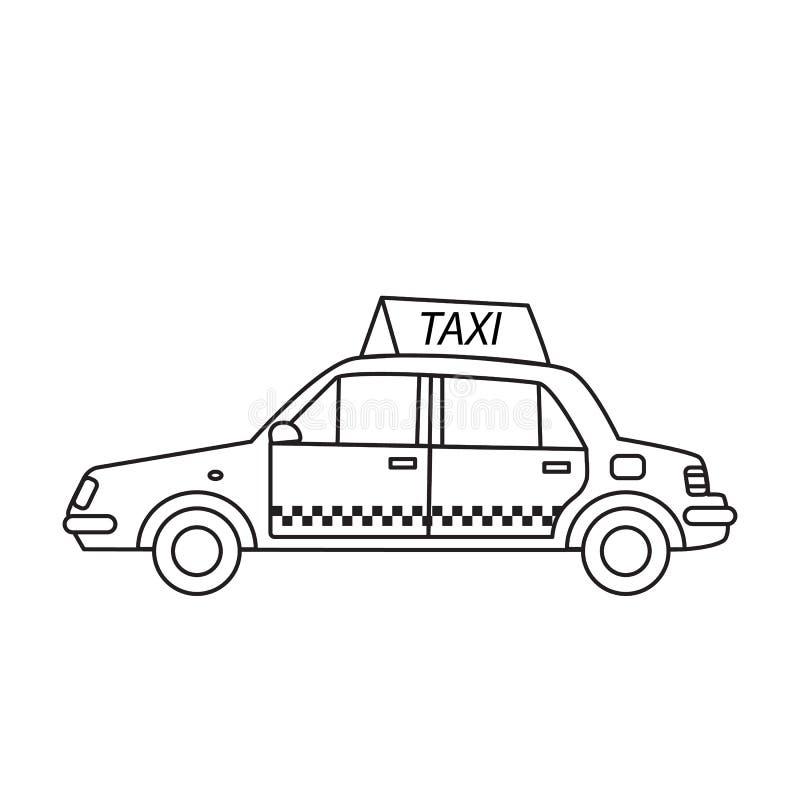 Taxi taksówka z znakiem na dachu royalty ilustracja