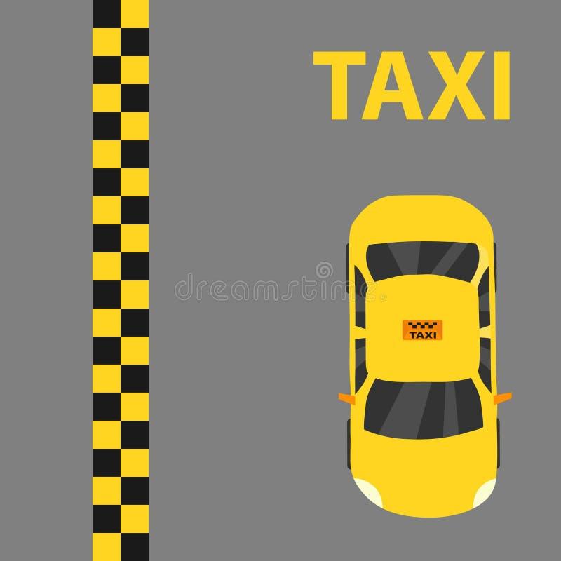 Taxi, taxiembleem vector illustratie