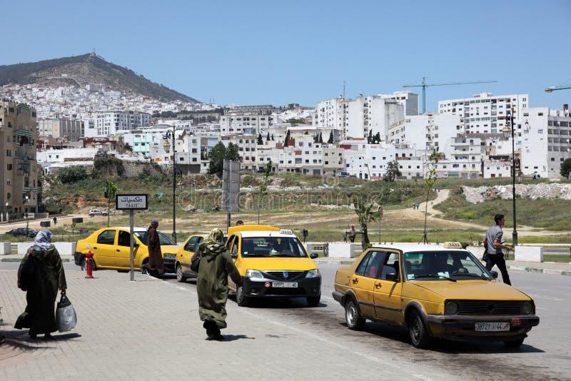 Taxi in Tetouan, Marocco fotografie stock