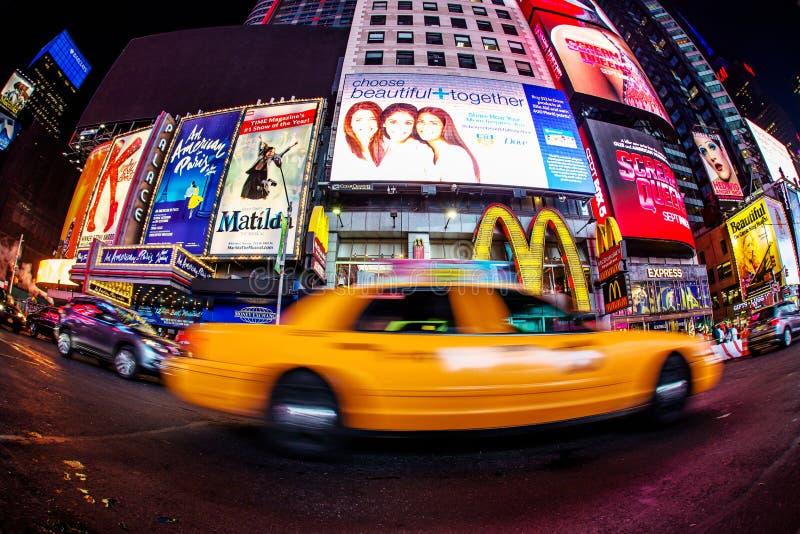 Taxi in tijdenvierkant royalty-vrije stock foto