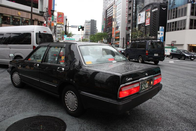 Taxi in Tokyo royalty-vrije stock afbeelding