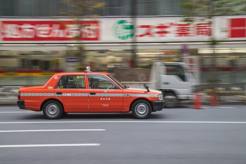Taxi in Tokyo stock afbeeldingen