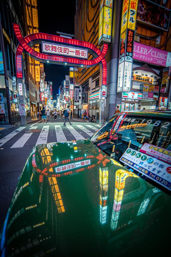 Taxi ? Tokyo photographie stock