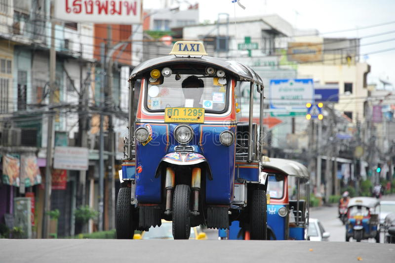 Taxi Tuk Tuk in Bangkok lizenzfreies stockbild