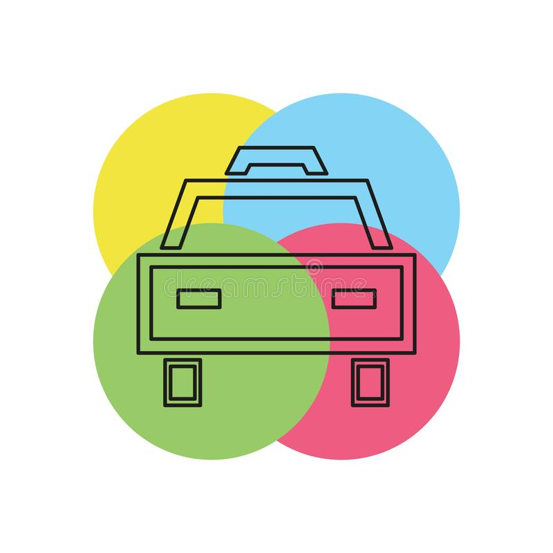Taxi vectorpictogram stock illustratie