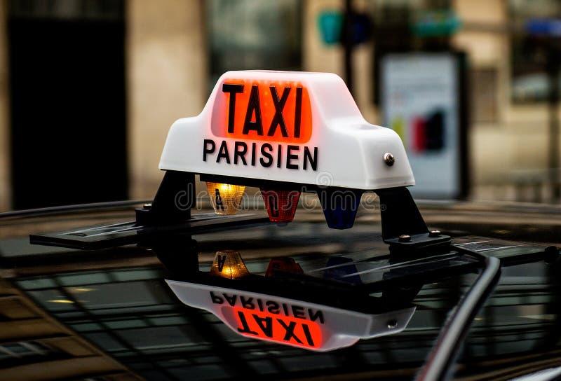 Taxi w Paryż zdjęcie royalty free