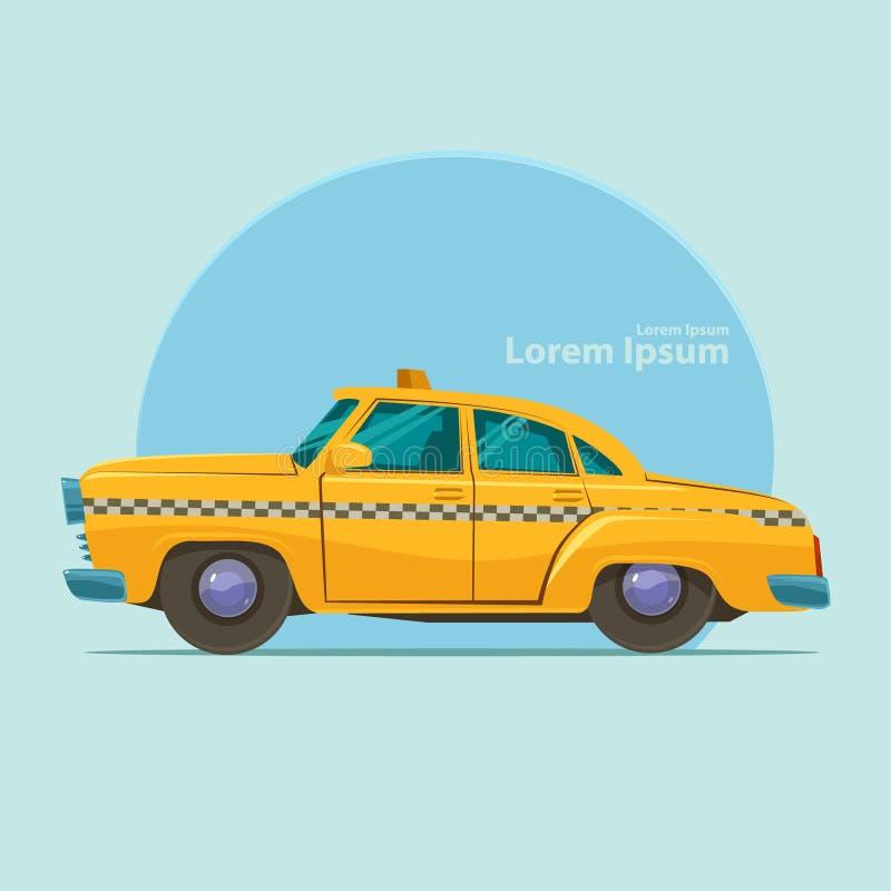 Taxi. Yellow taxi car, cartoon vector illustration royalty free illustration