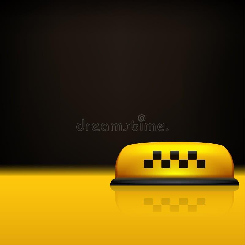 Taxiachtergrond 01 stock illustratie