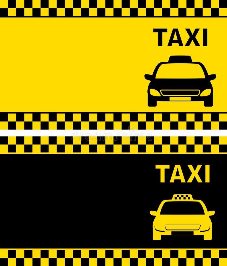Taxiaffärskort royaltyfri illustrationer