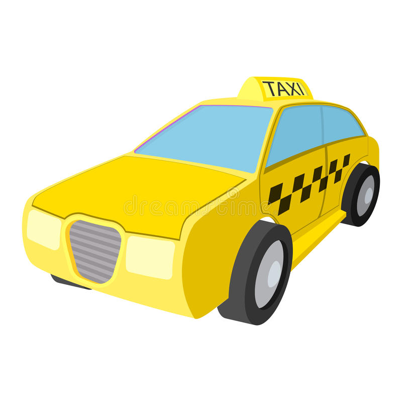 Taxiauto-Karikaturikone lizenzfreie abbildung