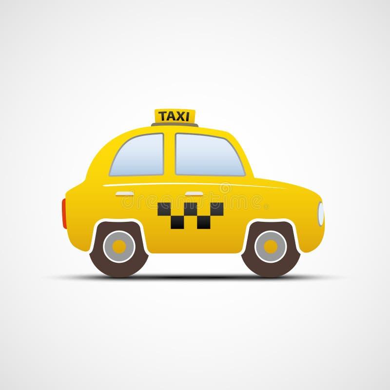 Taxiauto lokalisiert auf weißem Hintergrund lizenzfreie abbildung