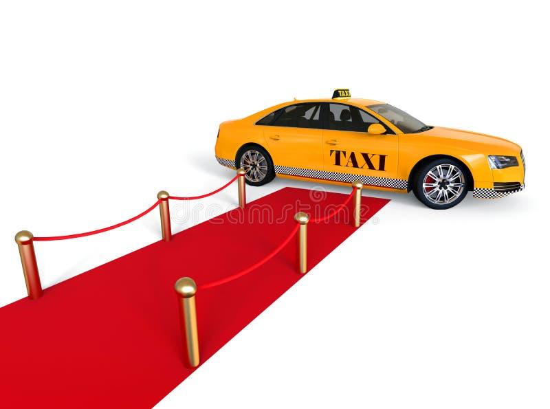 Taxibegrepp för röd matta royaltyfri illustrationer