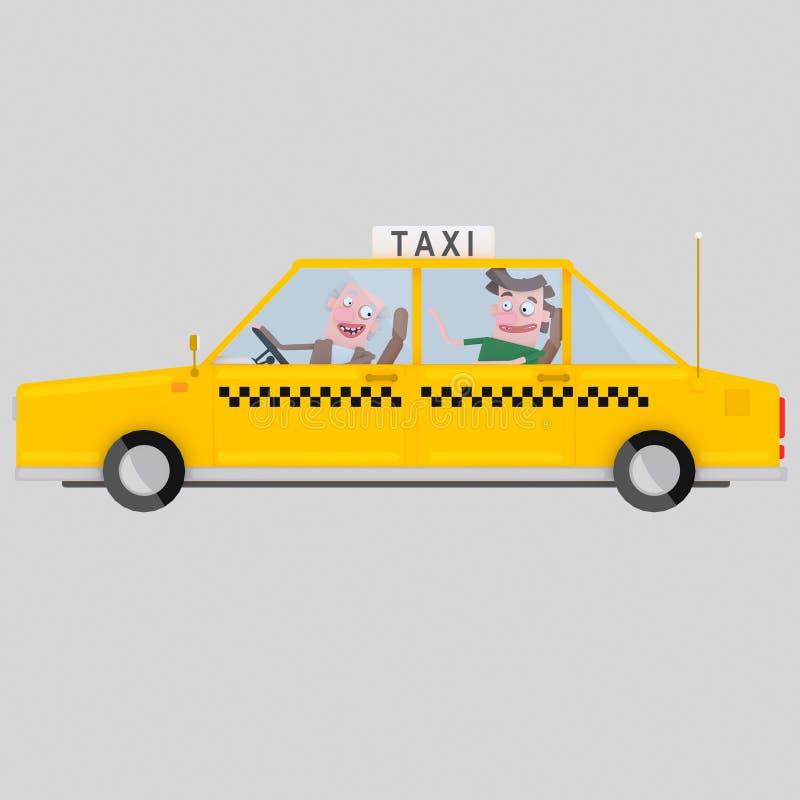 Taxibestuurder het werken 3d illustratie royalty-vrije stock afbeeldingen