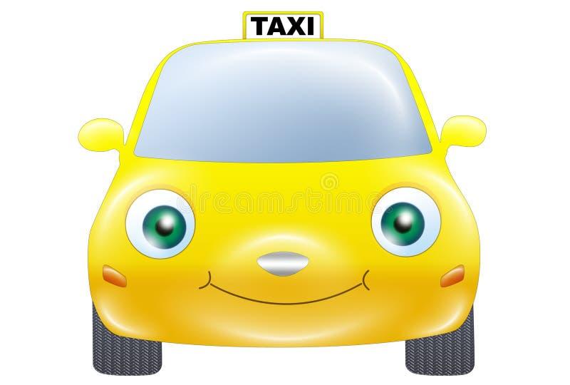 Taxibil royaltyfri illustrationer