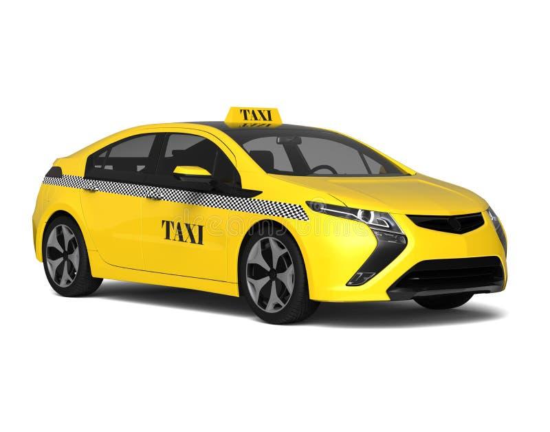 Taxibilbegrepp stock illustrationer