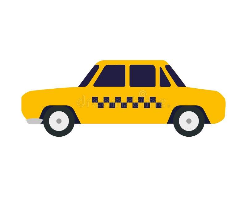 Taxibiloffentlig service stock illustrationer