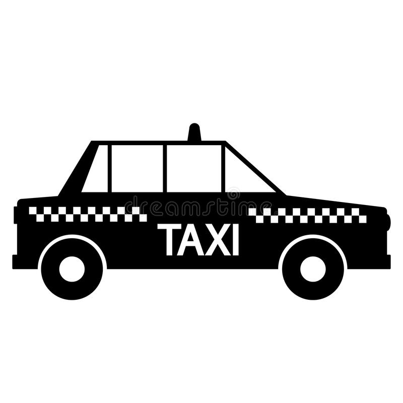 Taxibilsymbol vektor illustrationer