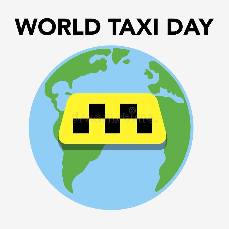 Taxidag stock illustratie