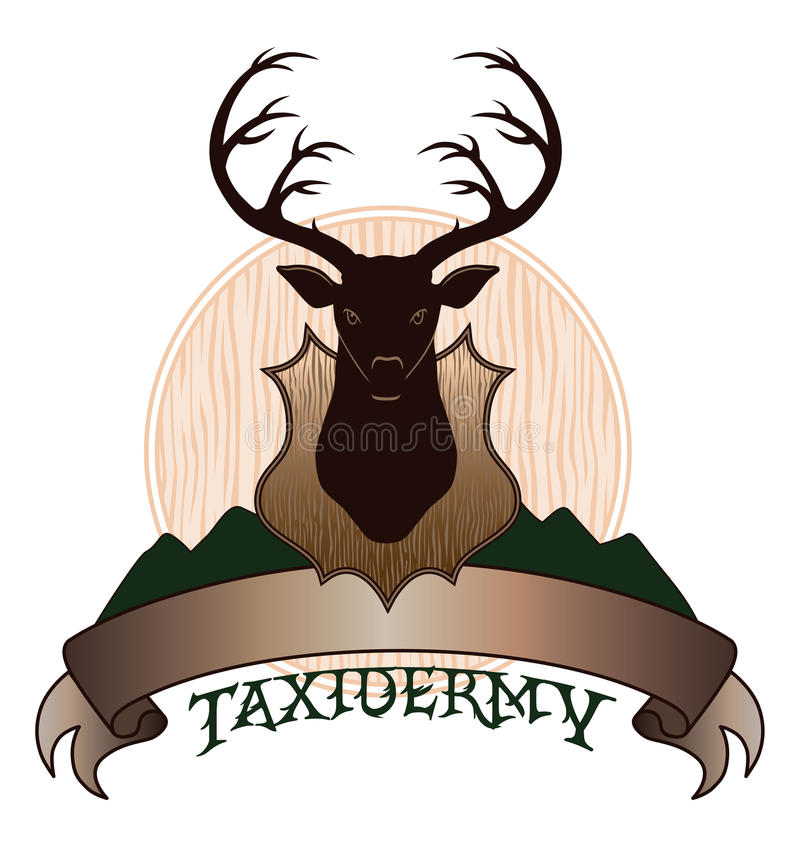 Taxidermy Design royalty free illustration