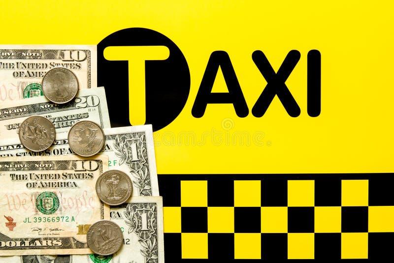 Taxifahrpreiskonzept stockfotos
