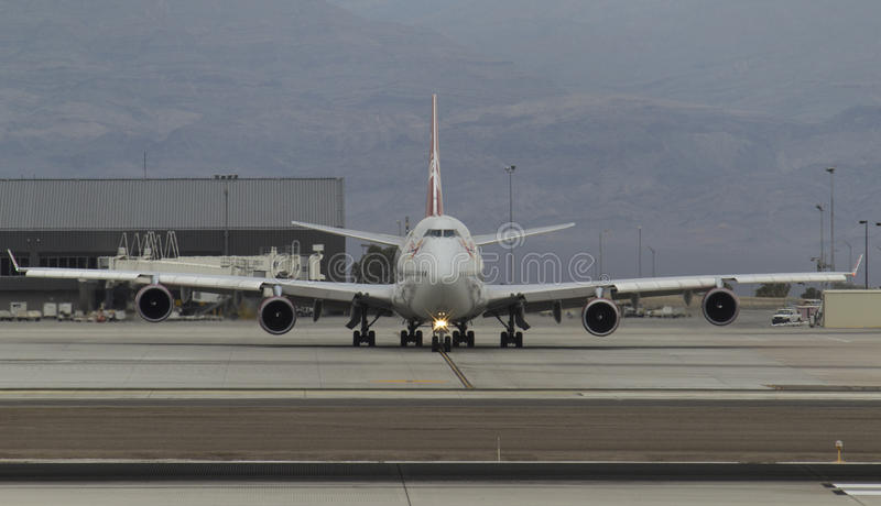 747 Taxiing royalty free stock image