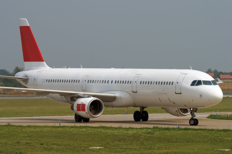 Taxiing after landing royalty free stock photos