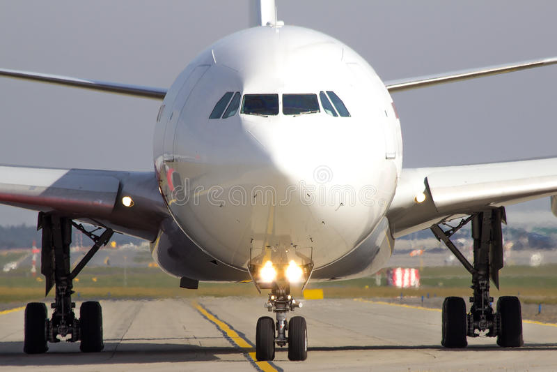 Taxiing samolot fotografia stock