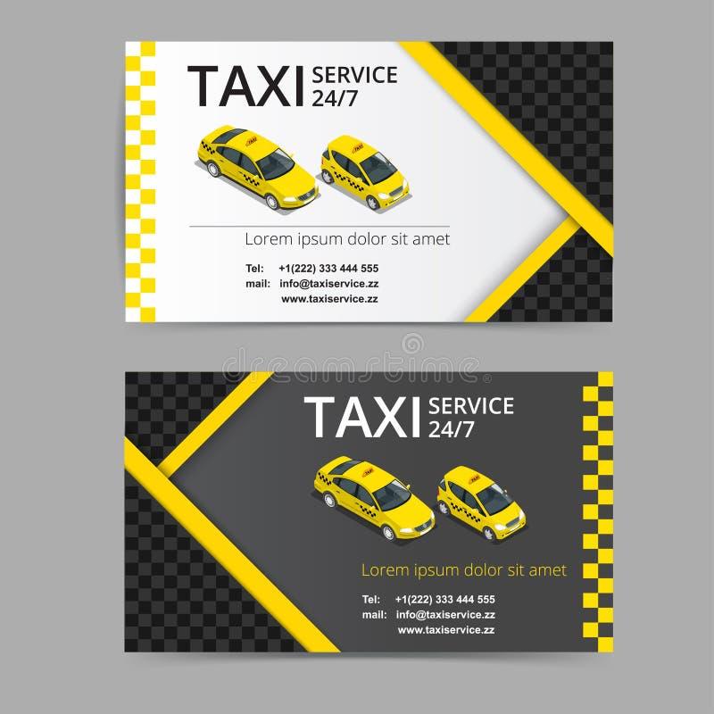 Taxikaart voor taxi-drivers De taxidienst Vectoradreskaartjemalplaatje Bedrijf, merk, het brandmerken, identiteit, logotype royalty-vrije illustratie