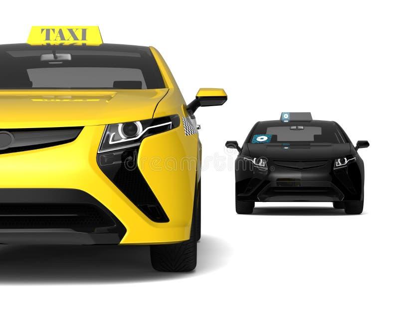 Taxikonkurrens royaltyfri illustrationer