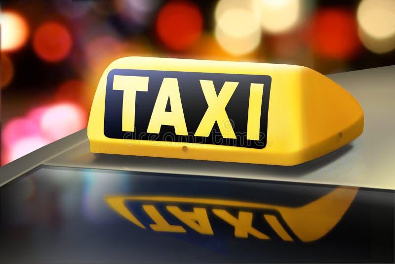 Taxilichten stock foto's