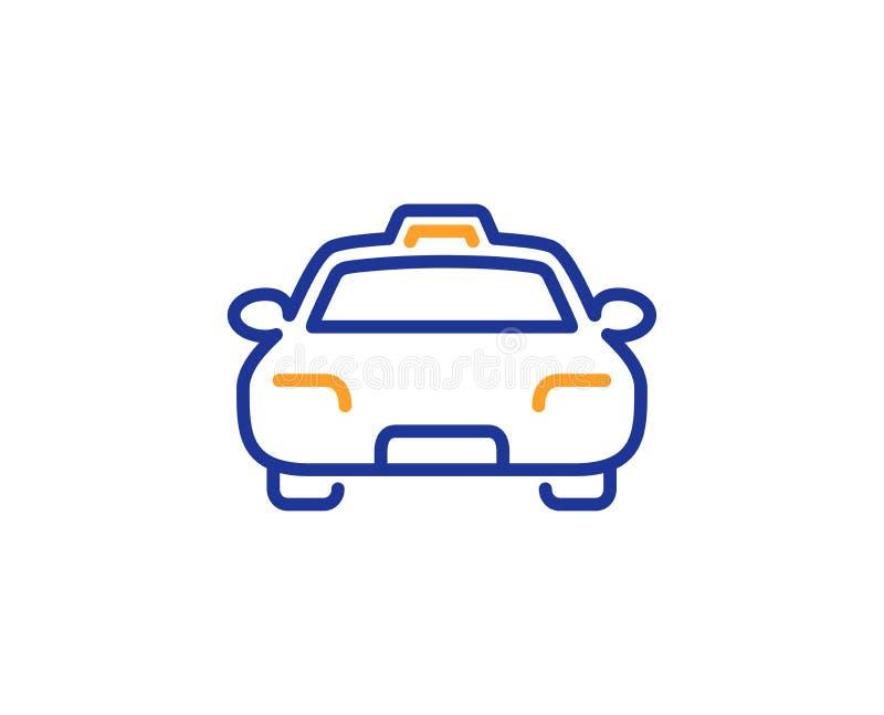 Taxilinje symbol Klienttrans.tecken vektor stock illustrationer