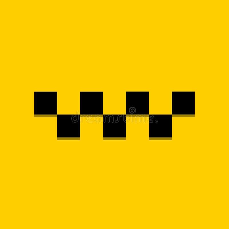 Taxilogoåtlöje upp att tillfoga din text vektor illustrationer