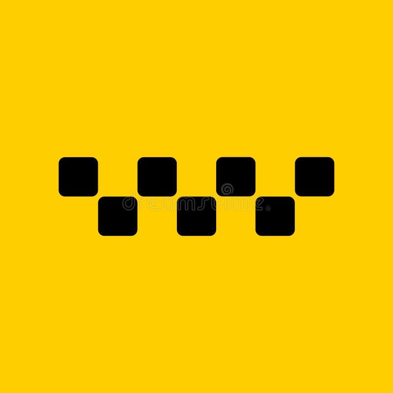 Taxilogoåtlöje upp att tillfoga din text stock illustrationer