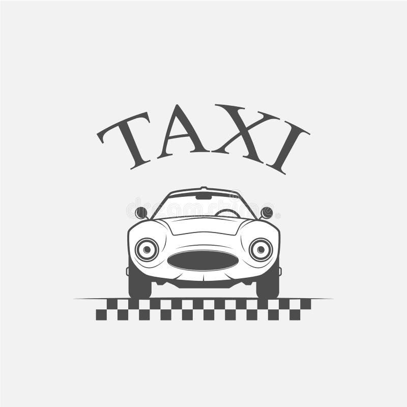 Taxilogovektor vektor illustrationer