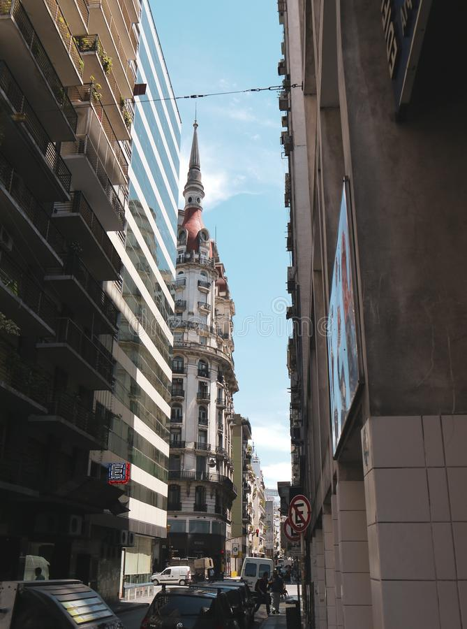 Taximonument in Buenos aires stock afbeelding