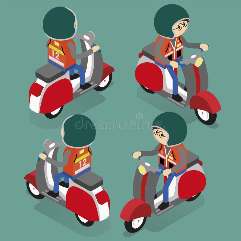 Taximotorcykel i Thailand vektor illustrationer