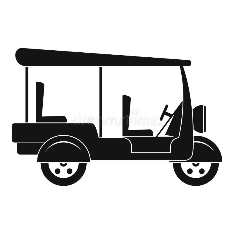 Taxirickshawsymbol, enkel stil vektor illustrationer