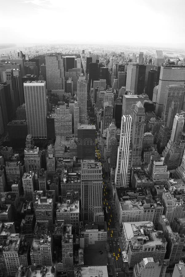 Taxis amarillos de Nueva York imagen de archivo libre de regalías