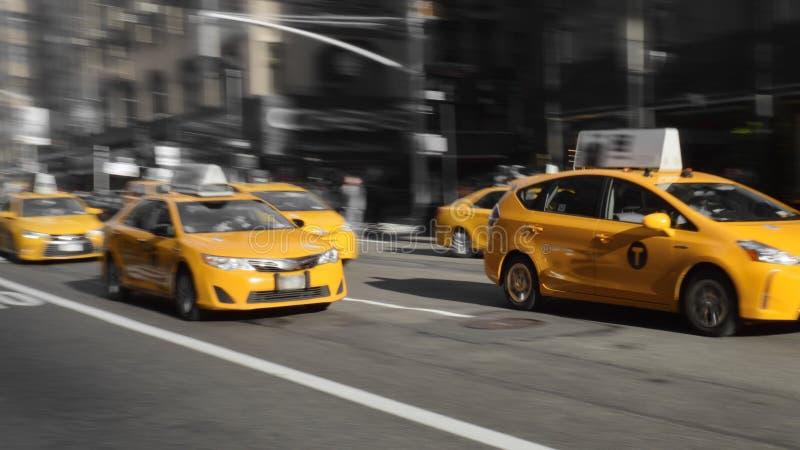 Taxis amarillos de NYC fotografía de archivo libre de regalías
