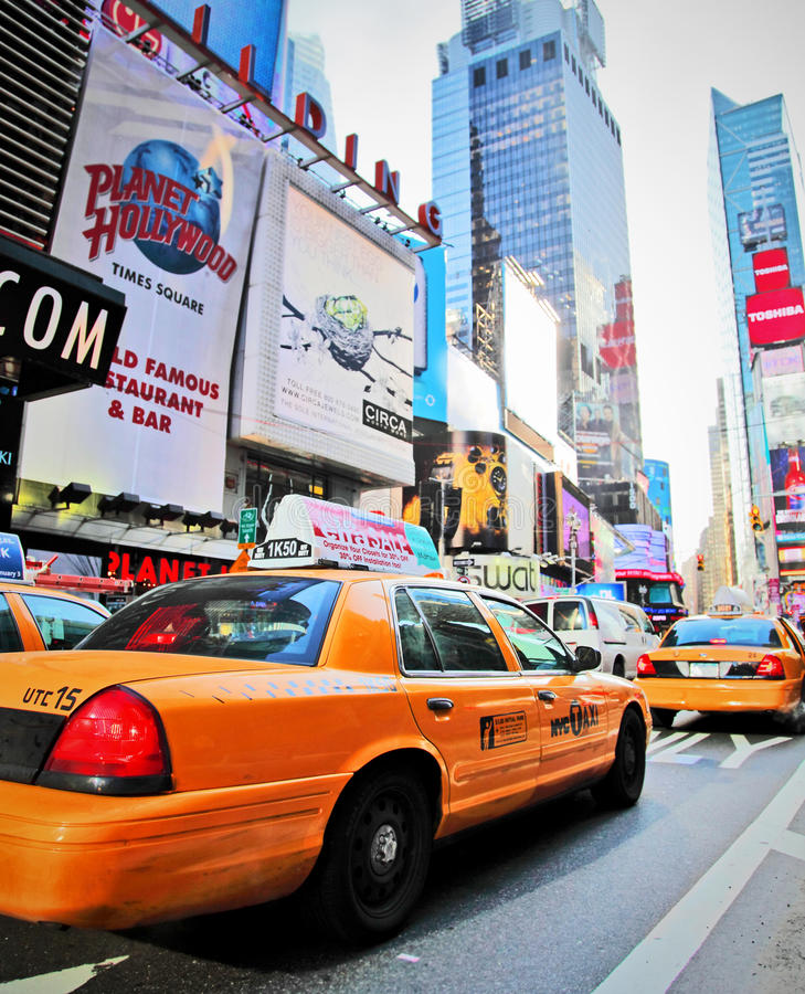 Taxis dans le Times Square photo stock