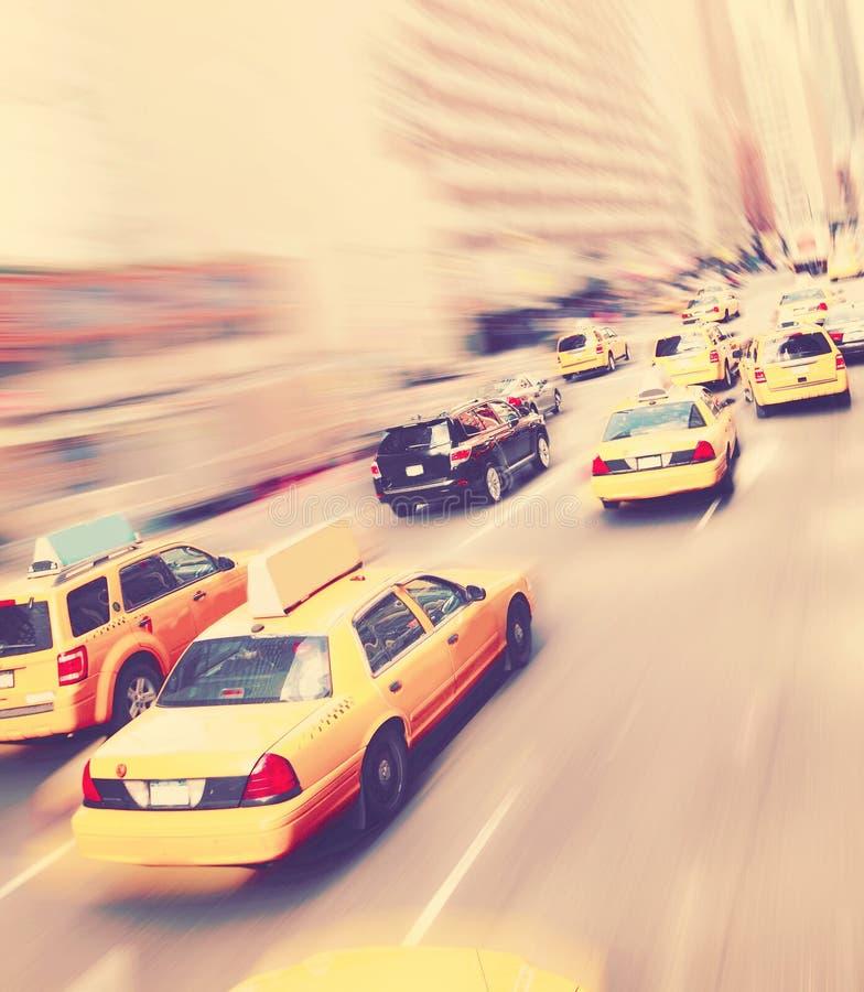 Taxis de jaune de New York photographie stock